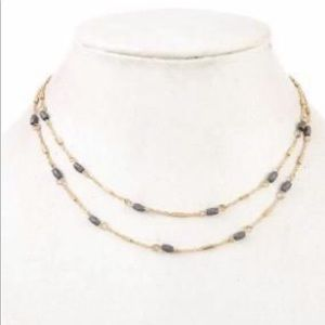 Double bead necklace